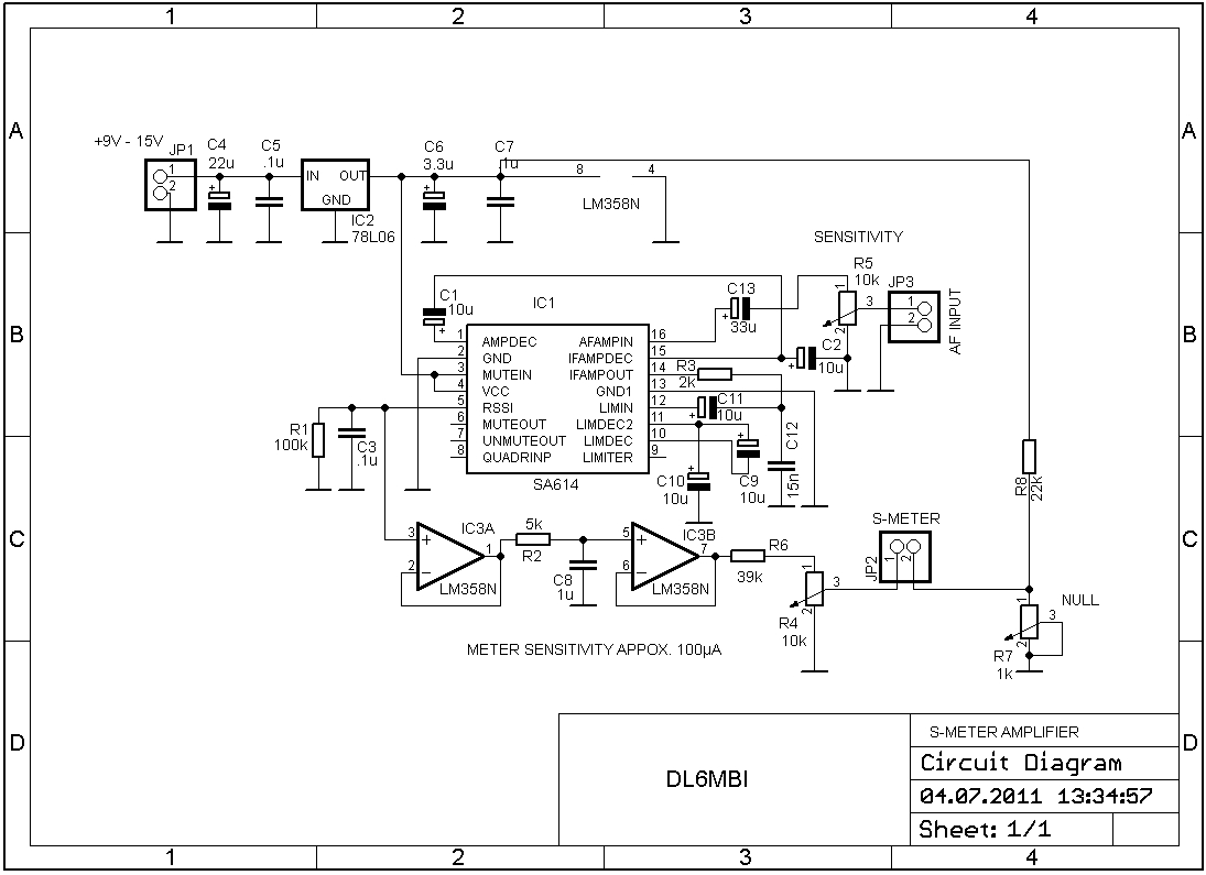 Tv Receiver Circuit Diagram | S Meter Circuit Diagram Wiring Schematics Diagram