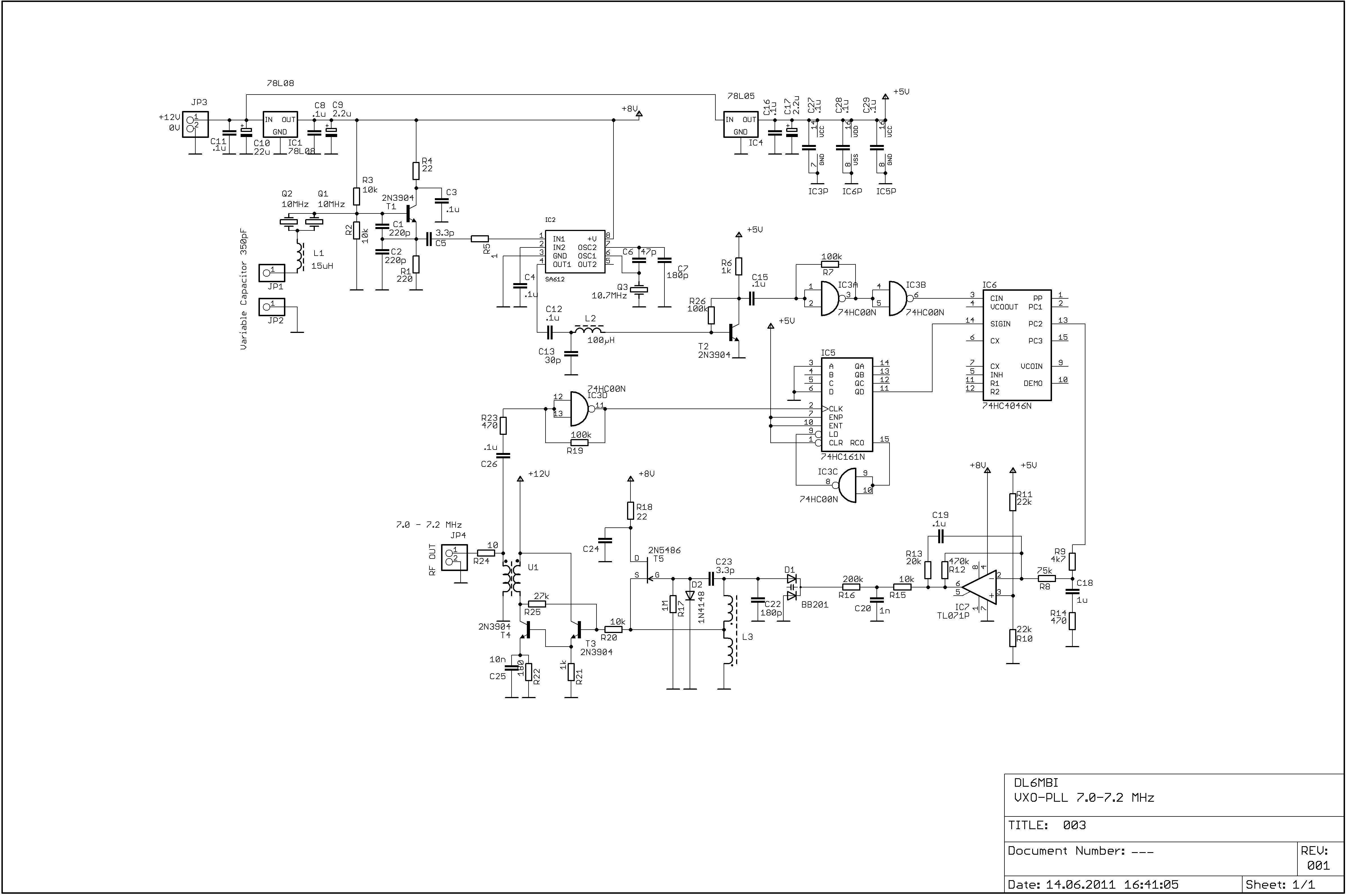 VXO PLL 7072 MHz