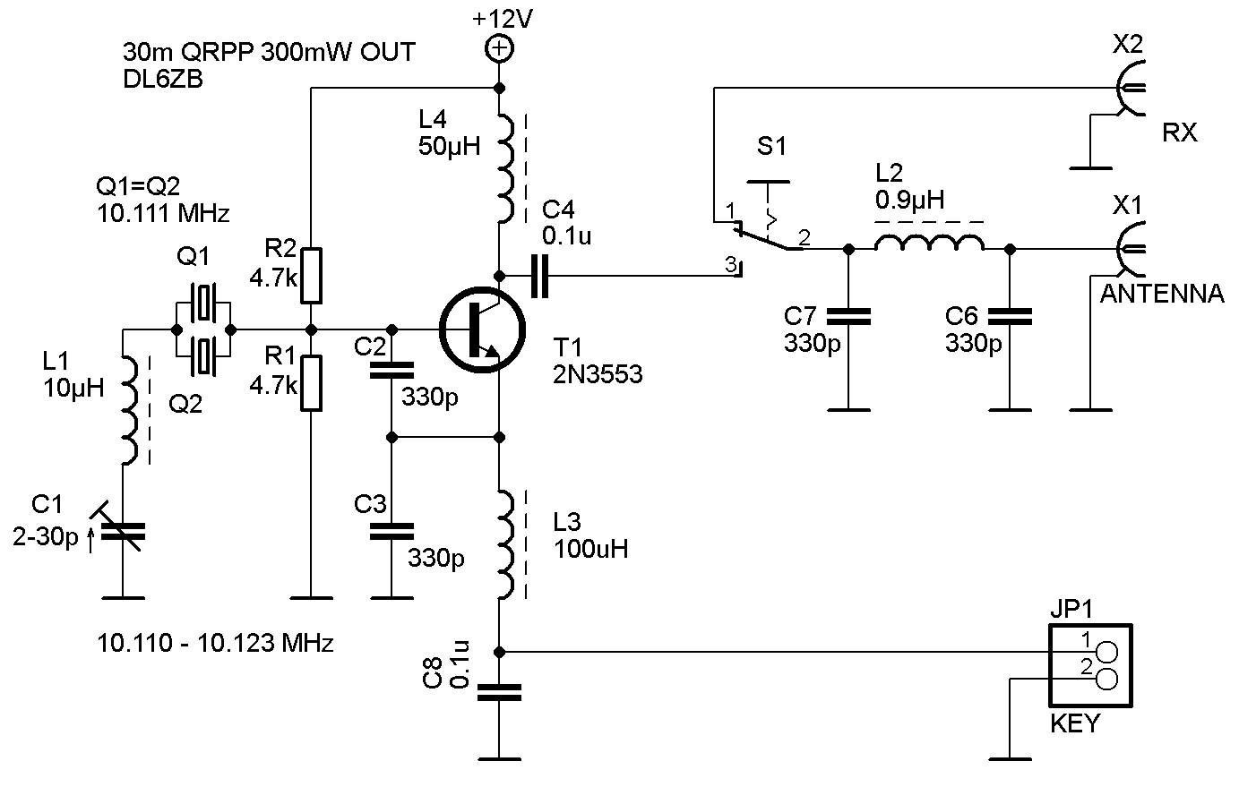 Single Transistor Transmitter And Receiver Simple Circuit 30m Qrpp