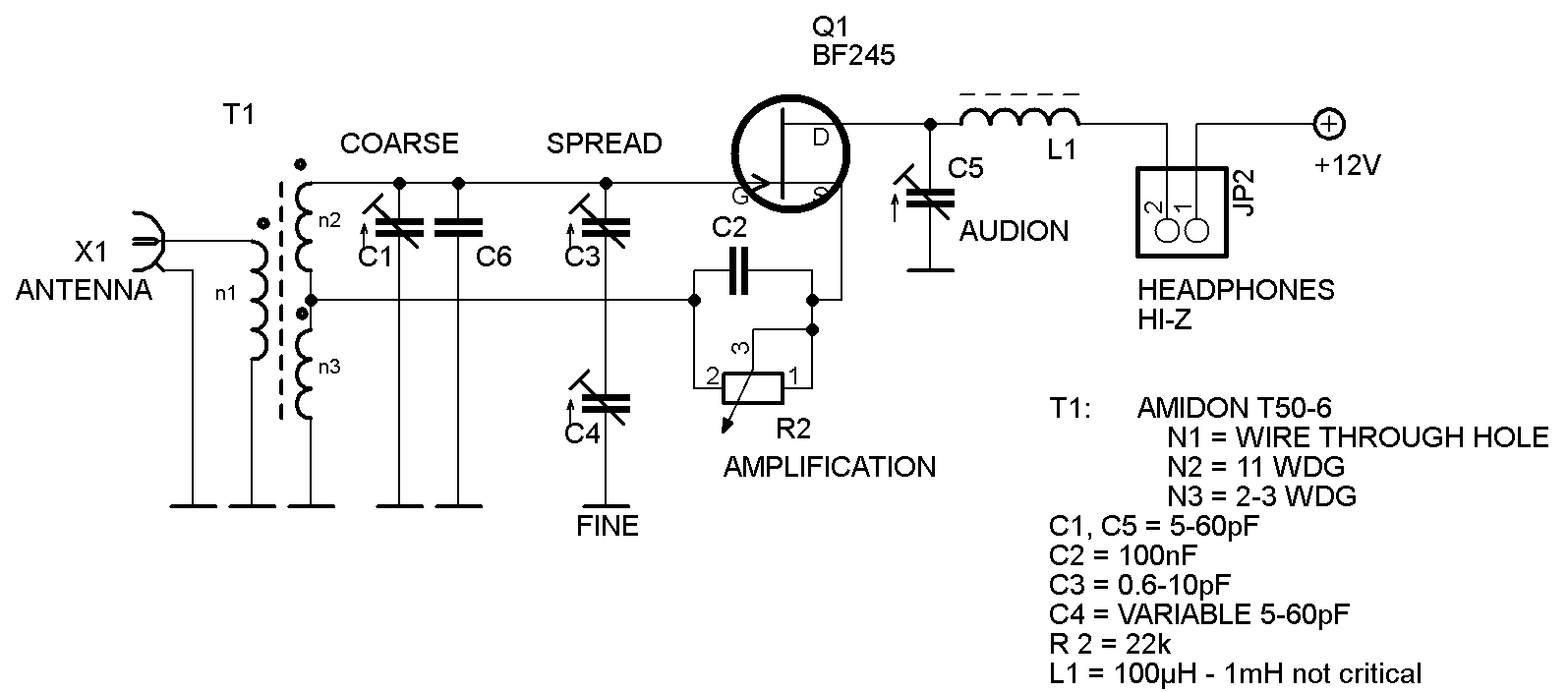 Single Transistor Transmitter And Receiver This Is A Simple Audio Preamplifier Circuit Using Regenerative Dx